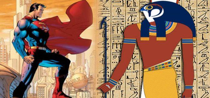 Superman eroe dei fumetti influenzato dall'antico Egitto e daHorus?