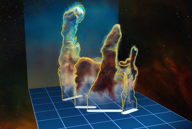 I Pilastri della Creazione in 3D