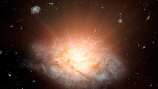 La galassia più luminosa dell'Universo si trova a 12,5 miliardi di anni luce